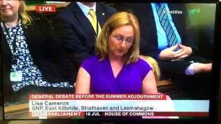 Dr Lisa Cameron MP Maiden Speech - East Kilbride, Strathaven and Lesmahagow