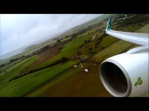 Aer Lingus Boeing 757-200 Takeoff Shannon (Short Version)