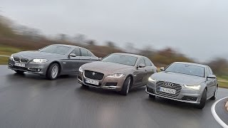 видео Jaguar XF или Audi A6