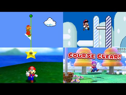 Evolution of Level Endings in Mario games