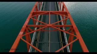 San Juanico Bridge Aerial View in 4K