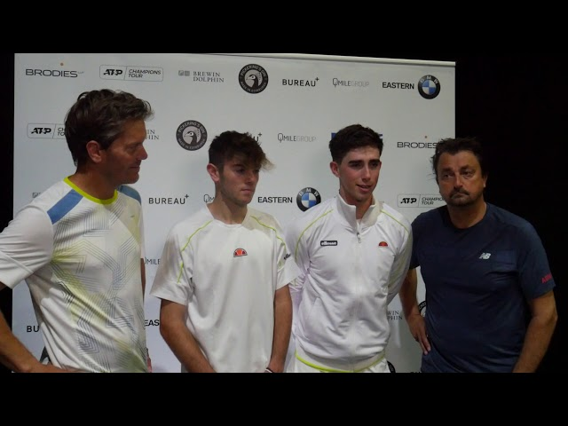 The tennis legends and the Scottish juniors exhibition match l Brodies Tennis Invitational 2019