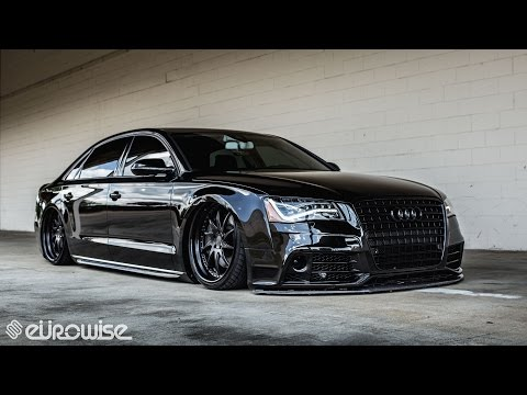 Air-ride equipped Audi A8L on AG Wheels built by Eurowise (Charlotte, NC)