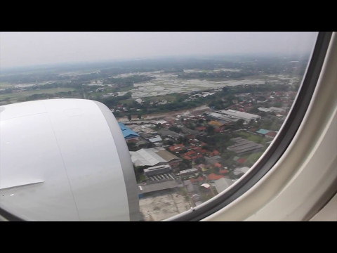 Flight from TPE to JKT [EVA AIR flight BR237] {2017/5/8} Plane shadow!!!