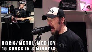 �������� ���� 10 rock/metal songs in 3 minutes ������