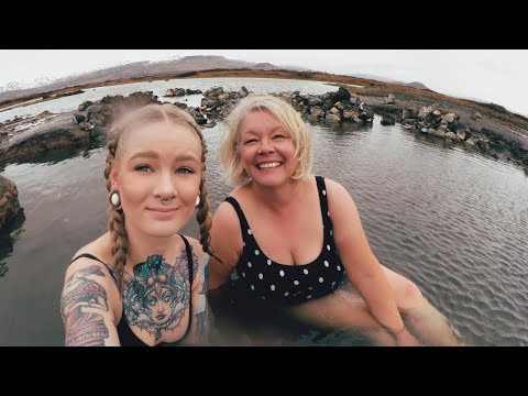 BATHING IN SEWAGE HOT SPRING!? · Iceland Road Trip