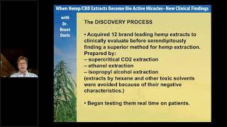 When Hemp CBD Extracts Become Bio Active Miracles - New Clinical Findings with Dr. Brent Davis