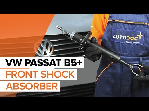 How to replace front shock absorbers on VW PASSAT B5+ TUTORIAL | AUTODOC