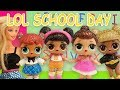 LOL Doll School Day Routine starring Queen Bee  Hoops and Teacher Barbie Part 2
