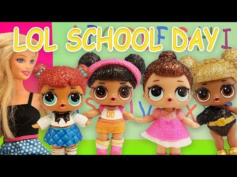 lol-doll-school-day-routine-starring-queen-bee,-hoops-and-teacher-barbie-part-2