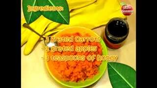Carrot Mask Recipe For Hands and Nails - Homemade Natural Cosmetics for Skin Care