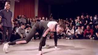 Battle of the year Bgirl 2015 B-nice & Frost vs  Kami & Akness