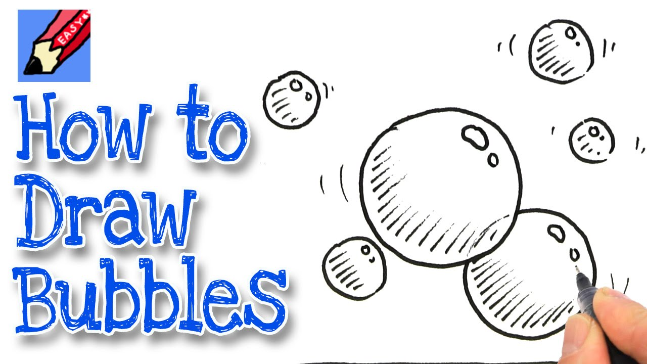 how to draw bubble letters how to draw bubbles real easy 22281 | maxresdefault