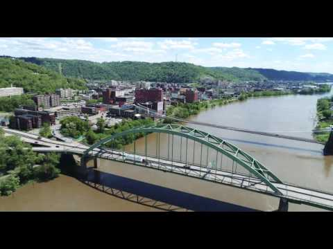 Wheeling West Virginia Drone Shots, May 8, 2017