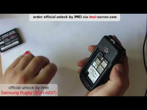 Unlock Samsung Rugby SGH-A837 from AT&T