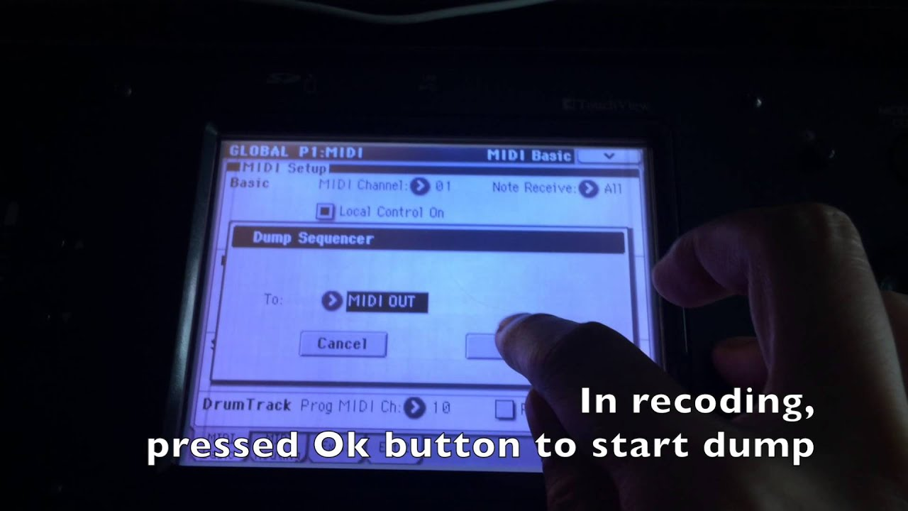 How to record M50 Sequencer Setup to Your Project