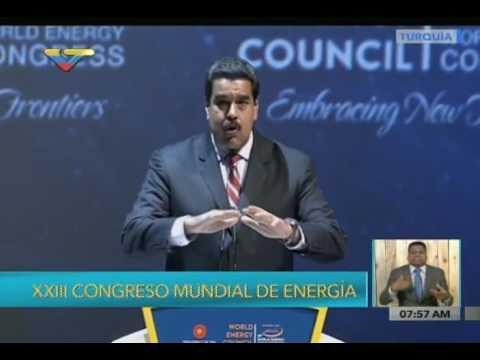 Presidente Nicolás Maduro, intervención en el Congreso Mundial de Energía en Turquía