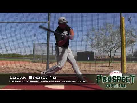 Logan Spere Prospect Video, 1b, Rancho Cucamonga High School Class of 2019