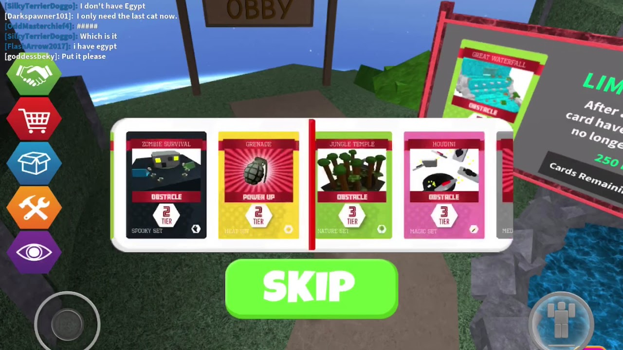 Roblox Obby Squads All Cards Hacki W Roblox - obby squads roblox codes