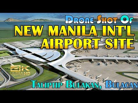 4K Drone Shot; New Manila Int'l Airport