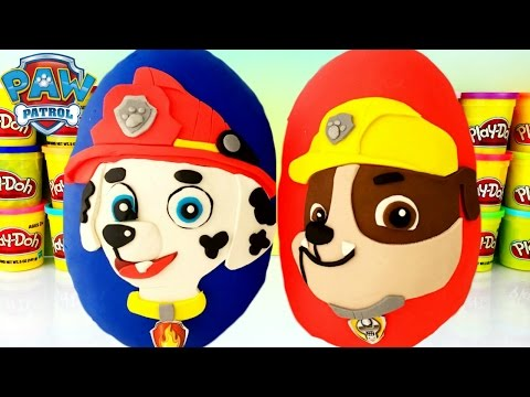 PAW PATROL Marshall & Rubble Play Doh Suprise Eggs | Mashems |