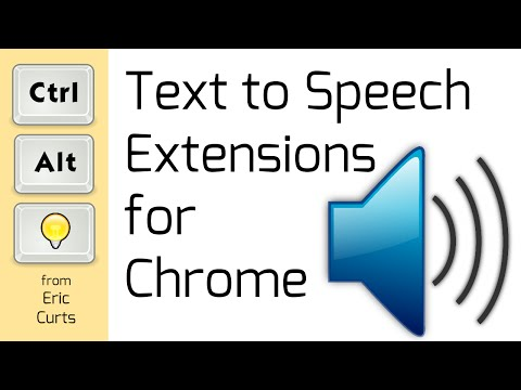 Text to Speech Extensions for Chrome