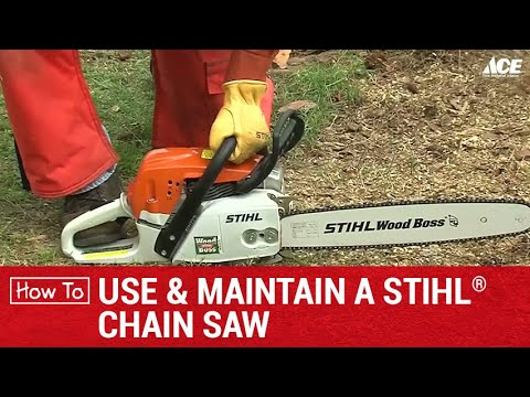 How To Use And Mantain A Stihl Chainsaw