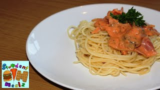 Student Mealz - How To Make A Mushroom Ham Tomato Cream Pasta Sauce