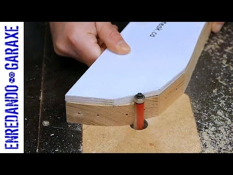 Using the Adirondack chair templates with a flush trim router bit