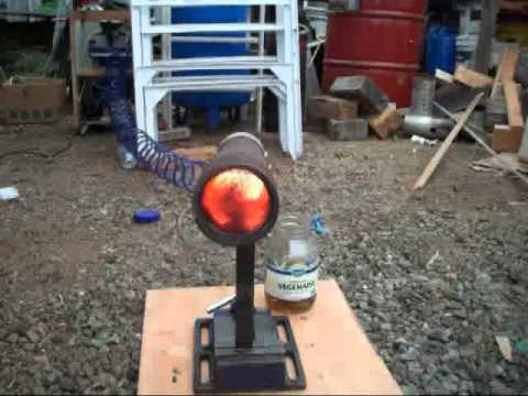 Home Made Waste Oil Burner - 7- - YouTube