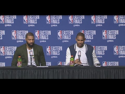 Al Horford & Marcus Morris Postgame Interview | Cavaliers vs Celtics Game 1