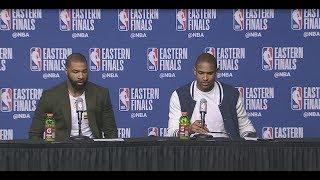 Al Horford & Marcus Morris Postgame Interview | Cavaliers vs Celtics Game 1