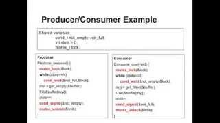 Lecture 3, Unit 2: using condition variables