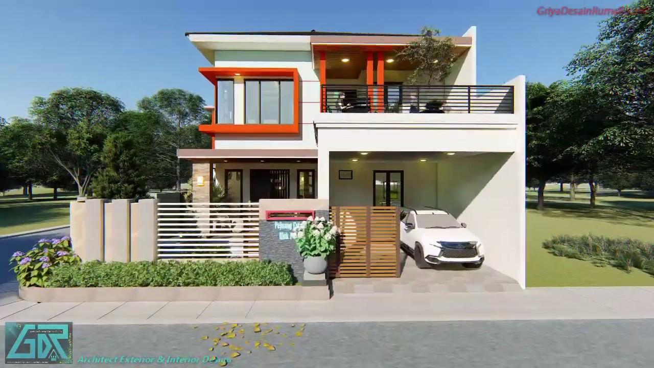 Desain Denah Rumah Mewah 2 Lantai Ukuran 13 X 17 Meter 6 Kamar Tidur Eksterior Interior Youtube