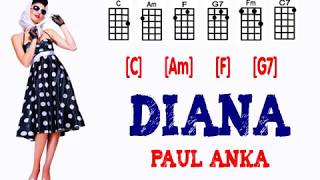 Paul Anka ~ DIANA....(Ukulele Play-Along w/Easy Chords)