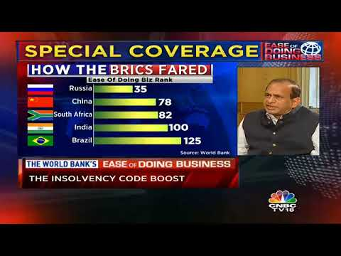DIPP Secy Speaks To CNBC-TV18 On World Bank's Ease Of Doing Business Rankings