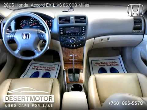 2005 honda accord ex l v6 86 000 miles desert motor. Black Bedroom Furniture Sets. Home Design Ideas