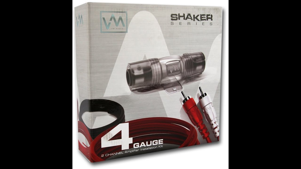 vm audio 4 gauge amplifier installation wiring kit w rca srpk4r rh youtube com