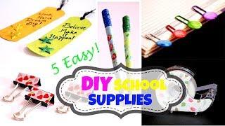 5 Easy DIY School Supplies for Back To School 2017 | Little Crafties