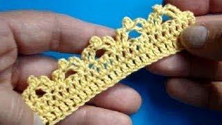 Вязание крючком Урок 262 Кайма  crochet edging