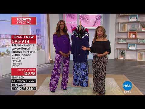 HSN | IMAN Global Chic Fashions 03.18.2018 - 04 PM