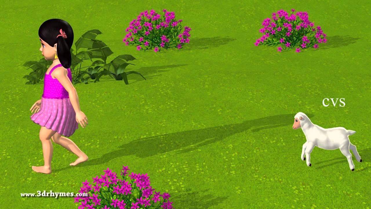 Baby Krishna Wallpaper 3d Mary Had A Little Lamb 3d Animation English Nursery