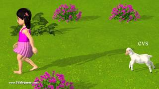Mary had a Little Lamb - 3D Animation English Nursery rhyme for children with lyrics