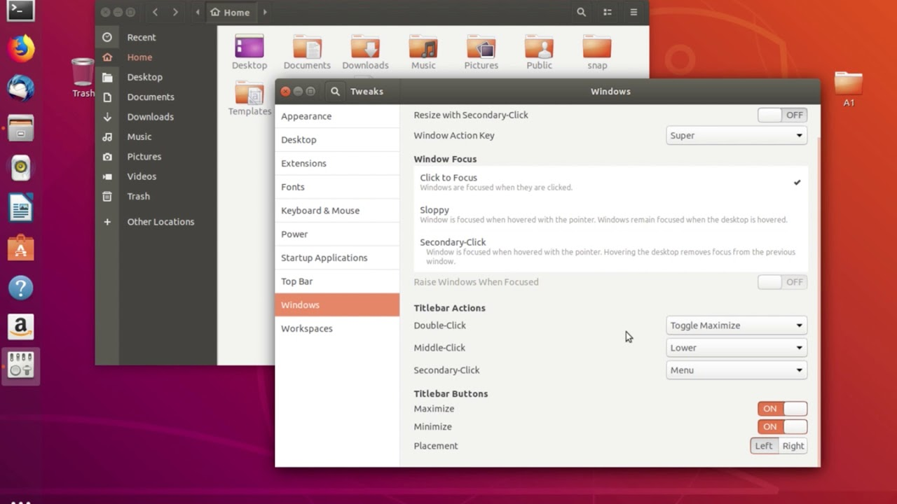 Ubuntu 18 04 Move Window Buttons 'Min, Max, Close' to Left Side