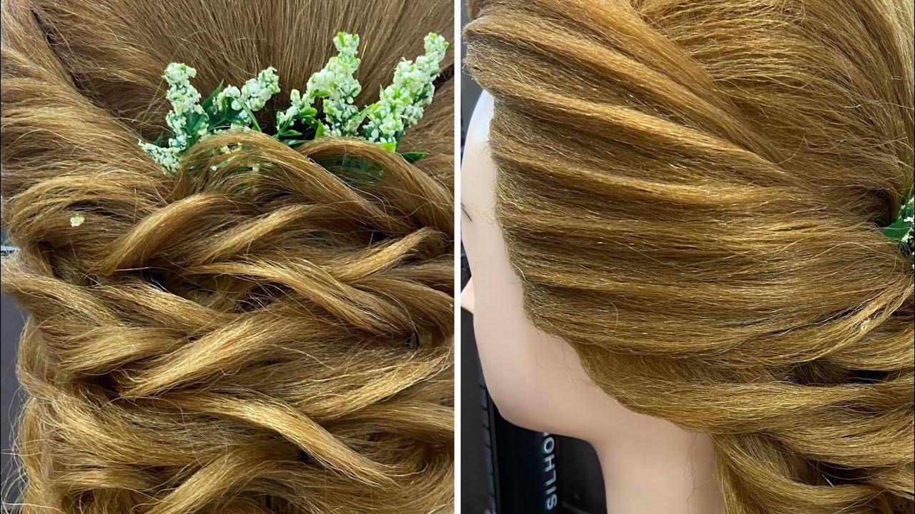Basic hair style 4th Twisting mermaid  Tutorial    #sonumakeupartist    #hairdo #haircut    #bride