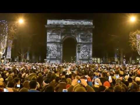 Paris 2014/2015 New Year Event at Champs-Élysées