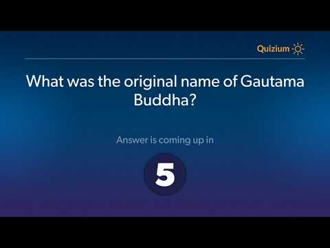 What Was The Original Name Of Gautama Buddha?   Gautama Buddha Quiz