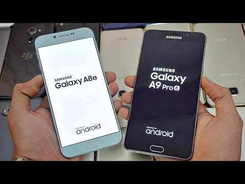Samsung Galaxy A9 Pro (2016) vs Galaxy A8 (2016) - Speed Test! (4K)