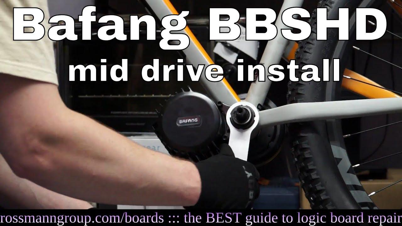 Bafang BBSHD mid-drive bicycle motor installation  It is skookum