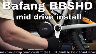 Bafang BBSHD mid-drive bicycle motor installation. It is skookum.